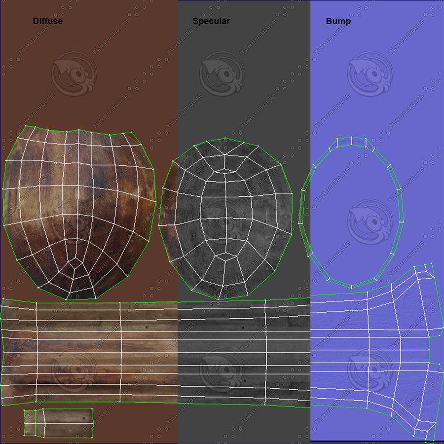 Cuchara de madera royalty-free modelo 3d - Preview no. 25