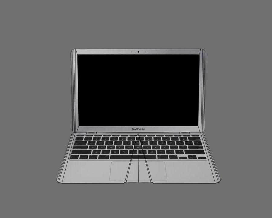 リアルなMac Book Air royalty-free 3d model - Preview no. 8