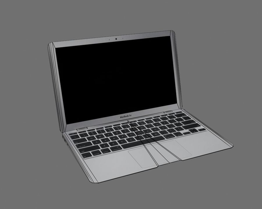 リアルなMac Book Air royalty-free 3d model - Preview no. 7