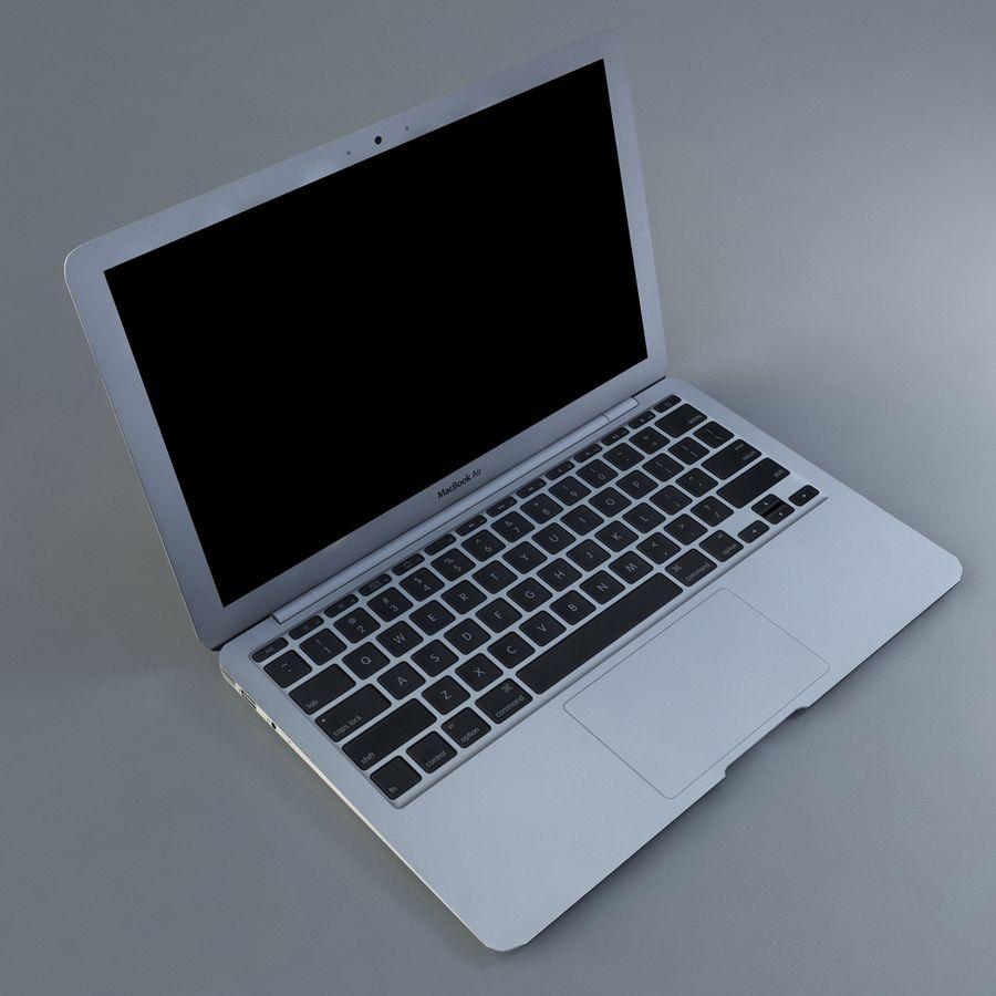 リアルなMac Book Air royalty-free 3d model - Preview no. 3