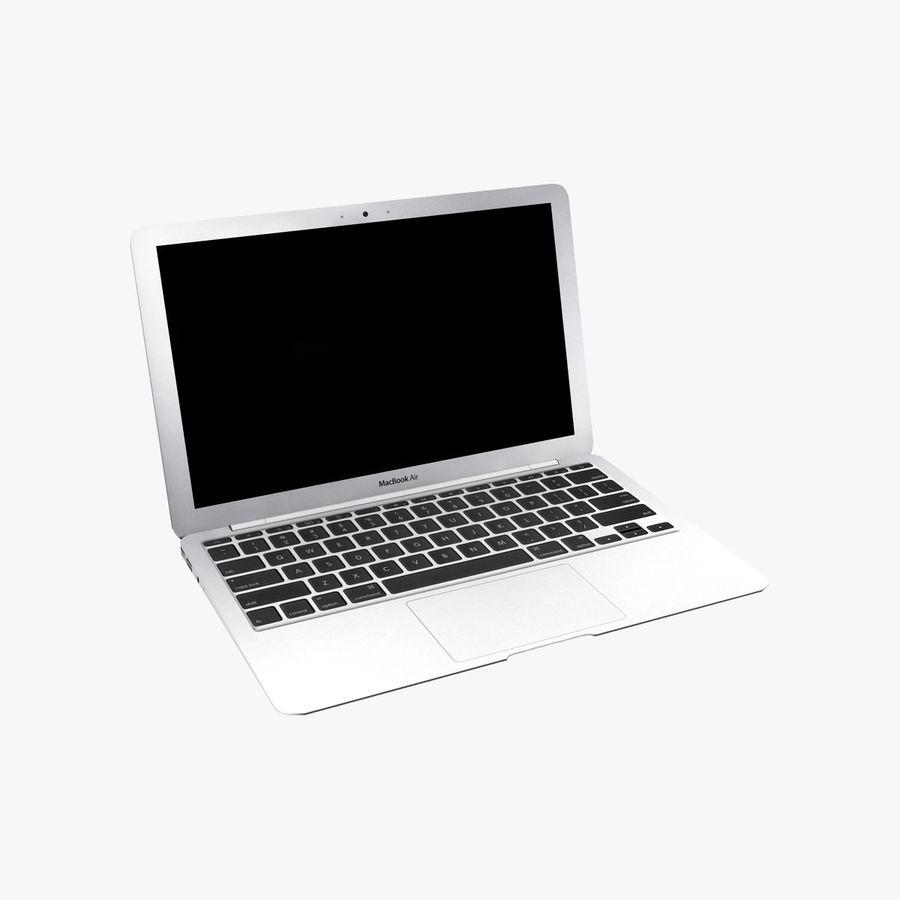 リアルなMac Book Air royalty-free 3d model - Preview no. 1