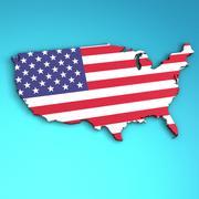 USA 3D model 3d model