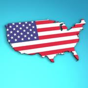 USA 3D 모델 3d model