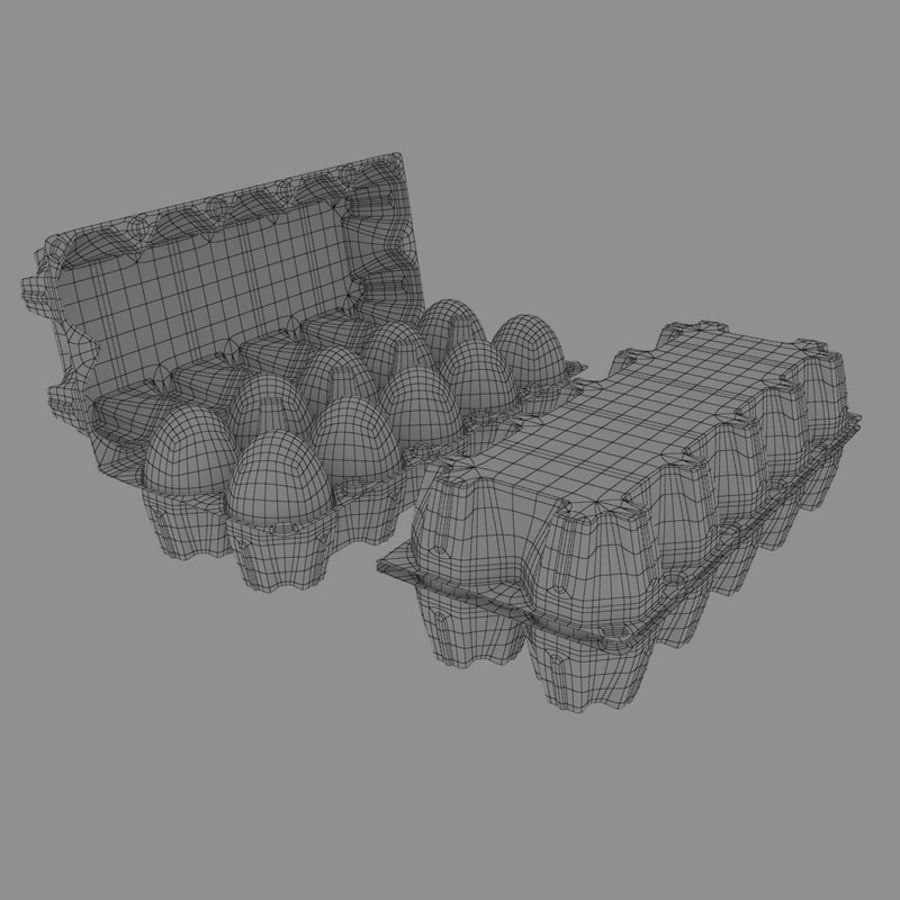 carton eggs royalty-free 3d model - Preview no. 4