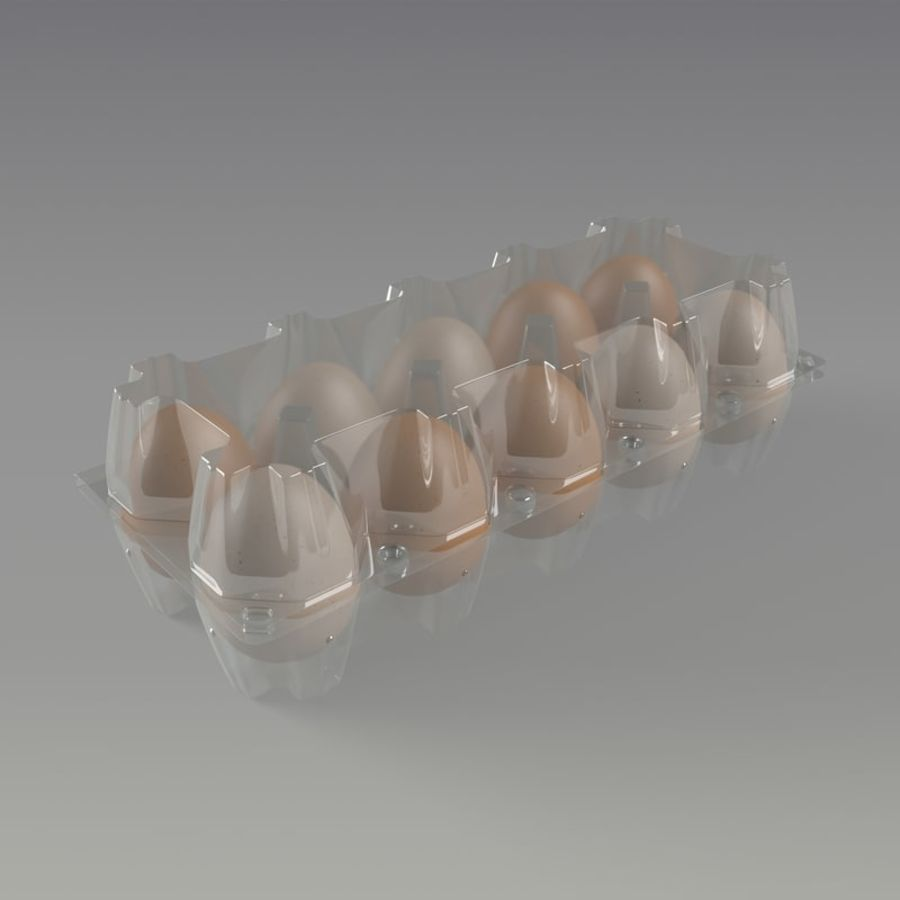 carton eggs royalty-free 3d model - Preview no. 3