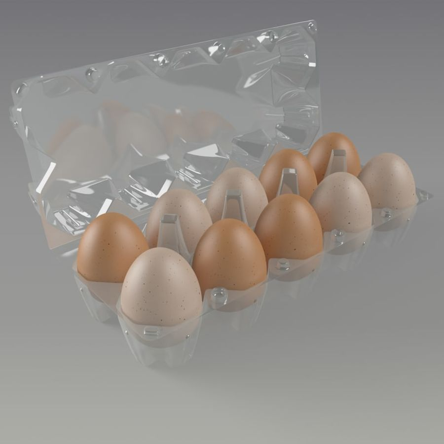 carton eggs royalty-free 3d model - Preview no. 2