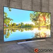 """Samsung 3D LED TV UHD 4k 55 """" 3d model"""