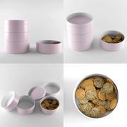 Bowl & Cookie 3d model