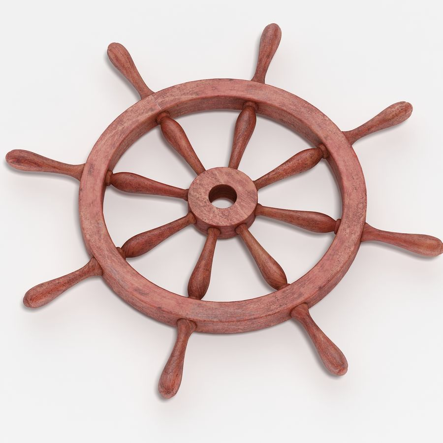 Steering Wheel royalty-free 3d model - Preview no. 4