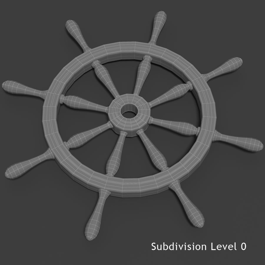 Steering Wheel royalty-free 3d model - Preview no. 5