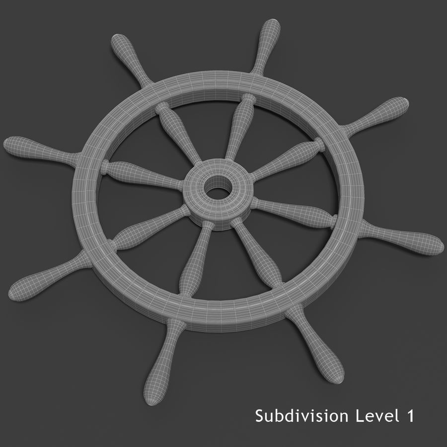 Steering Wheel royalty-free 3d model - Preview no. 6