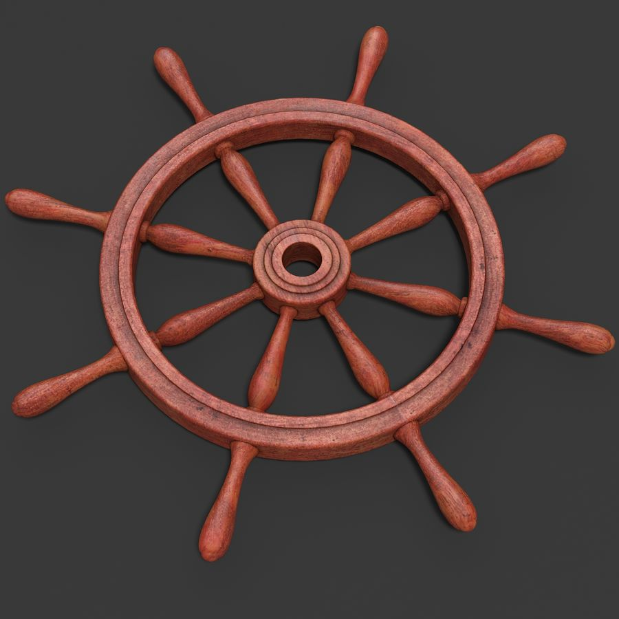Steering Wheel royalty-free 3d model - Preview no. 2
