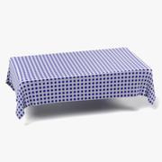 Tablecloth Rectangular3 3d model