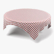 Tablecloth Round4 3d model