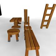 wooden-stuff 3d model