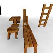artykuły drewniane 3d model