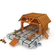 kereste fabrikası 3d model