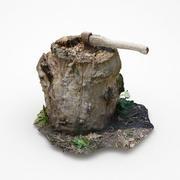 나무 그루터기 스캔 3d model