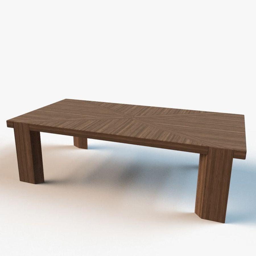 Designer Scored Dining Table royalty-free 3d model - Preview no. 8