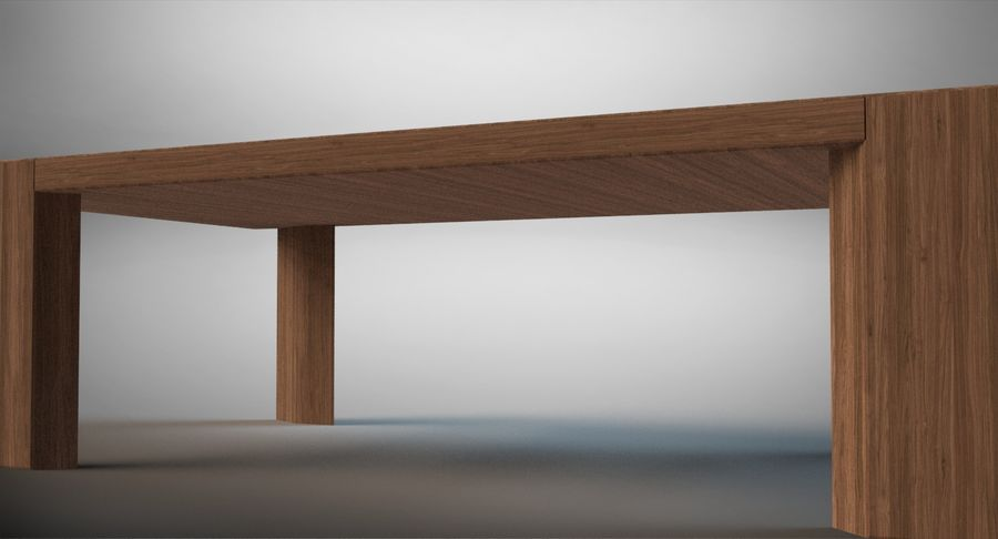 Designer Scored Dining Table royalty-free 3d model - Preview no. 5