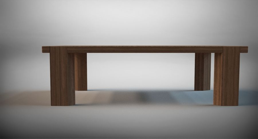 Designer Scored Dining Table royalty-free 3d model - Preview no. 3