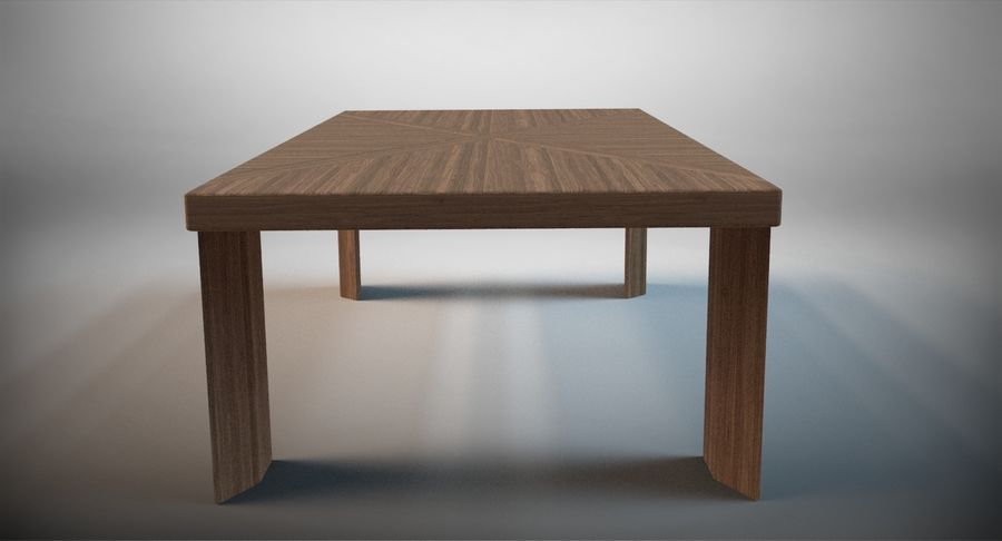 Designer Scored Dining Table royalty-free 3d model - Preview no. 4