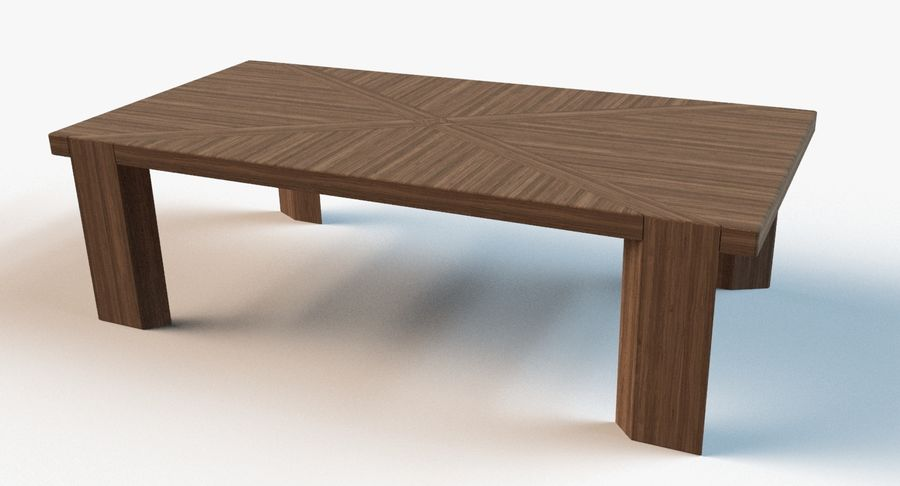 Designer Scored Dining Table royalty-free 3d model - Preview no. 1