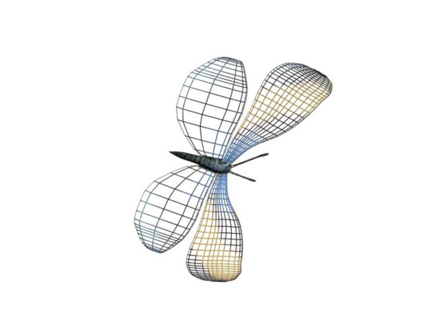 mariposa royalty-free modelo 3d - Preview no. 8