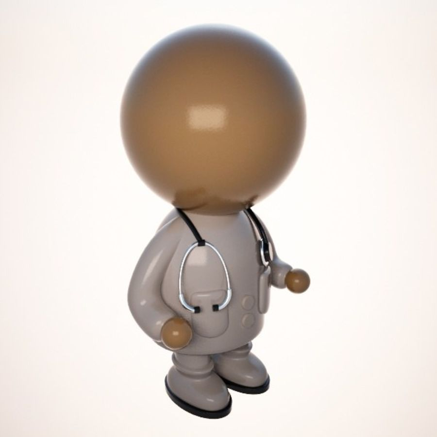 Cartoon Medical Doctor Character (Male) royalty-free 3d model - Preview no. 6