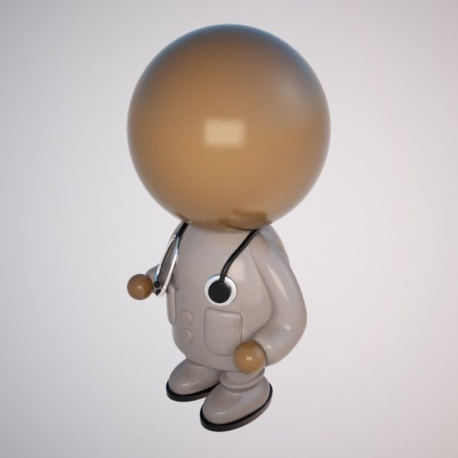 Cartoon Medical Doctor Character (Male) royalty-free 3d model - Preview no. 4