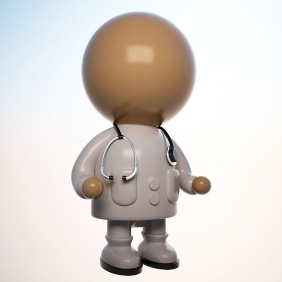 Cartoon Medical Doctor Character (Male) royalty-free 3d model - Preview no. 1