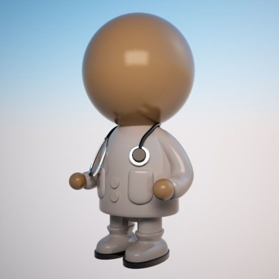 Cartoon Medical Doctor Character (Male) royalty-free 3d model - Preview no. 2