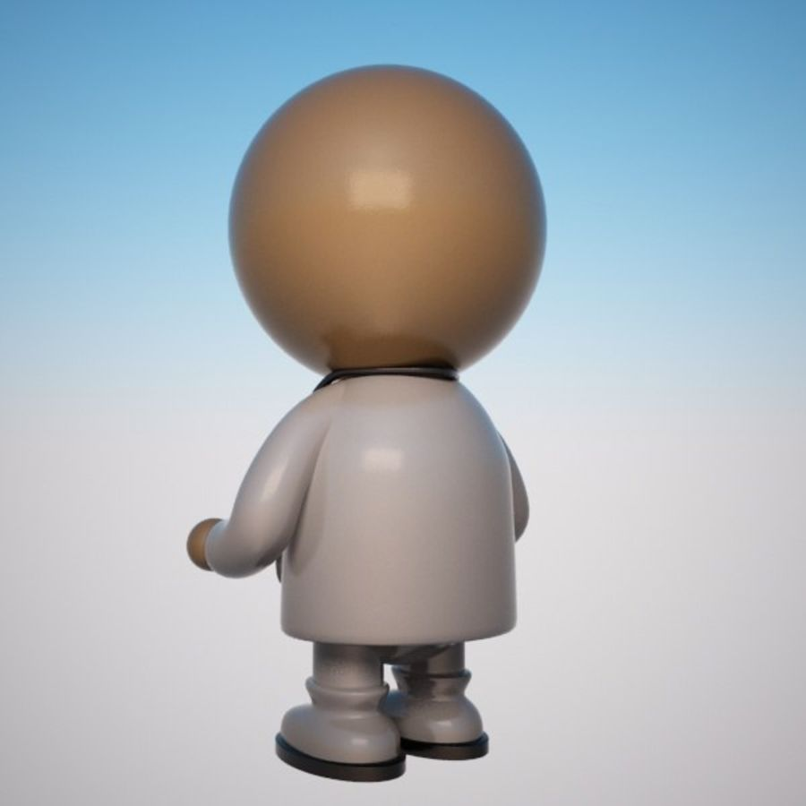 Cartoon Medical Doctor Character (Male) royalty-free 3d model - Preview no. 5