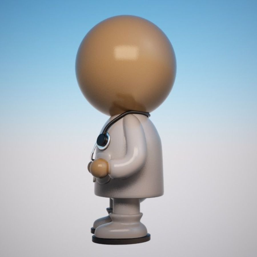 Cartoon Medical Doctor Character (Male) royalty-free 3d model - Preview no. 3