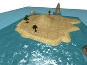 Island High quality 3d model