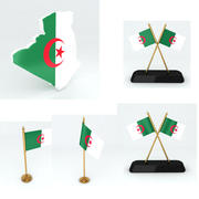 阿尔及利亚地图和标志 3d model