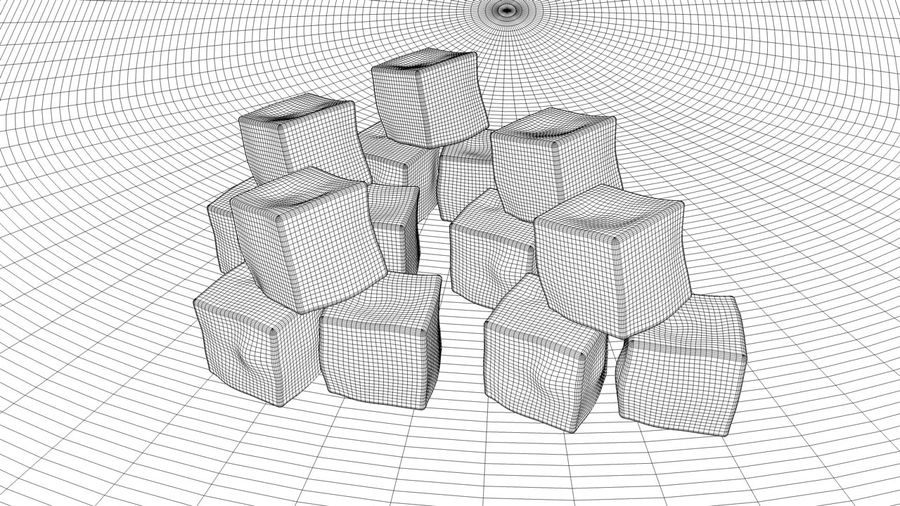 ice cubes royalty-free 3d model - Preview no. 5
