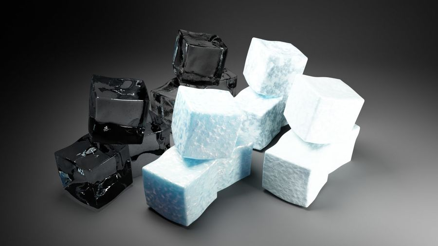 ice cubes royalty-free 3d model - Preview no. 4