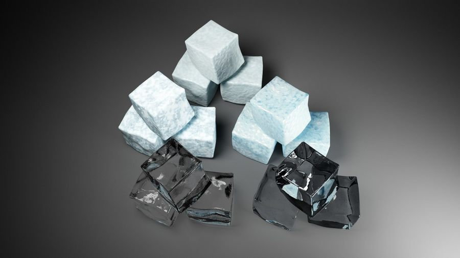 ice cubes royalty-free 3d model - Preview no. 3