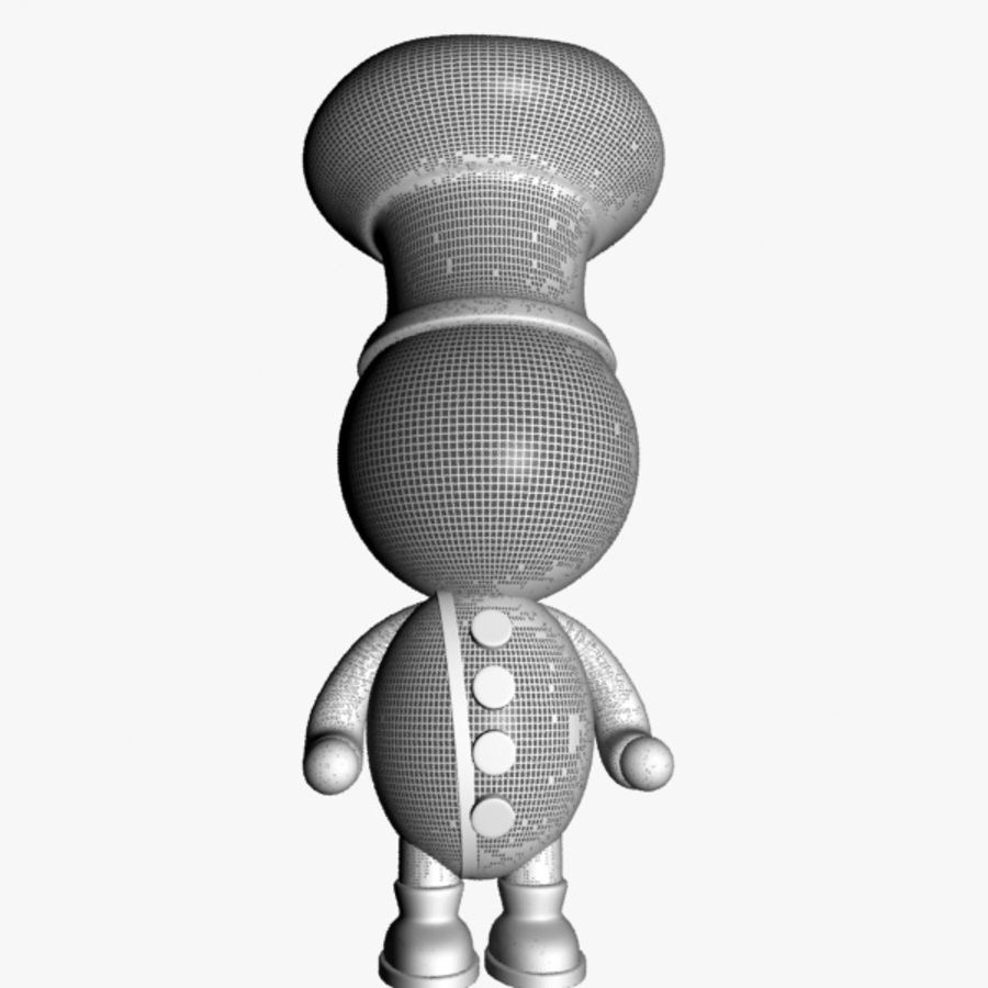 Cartoon Chief Character royalty-free 3d model - Preview no. 9