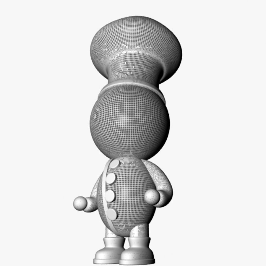 Cartoon Chief Character royalty-free 3d model - Preview no. 8