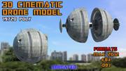 Sci-Fi Drone 3d Model Animated 3d model