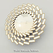 Swirl Mosaic Mirror Horchow 3d model