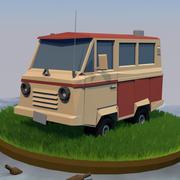 DÜŞÜK POLY VAN 3d model