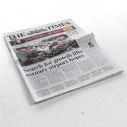 The Times newspaper 3d model