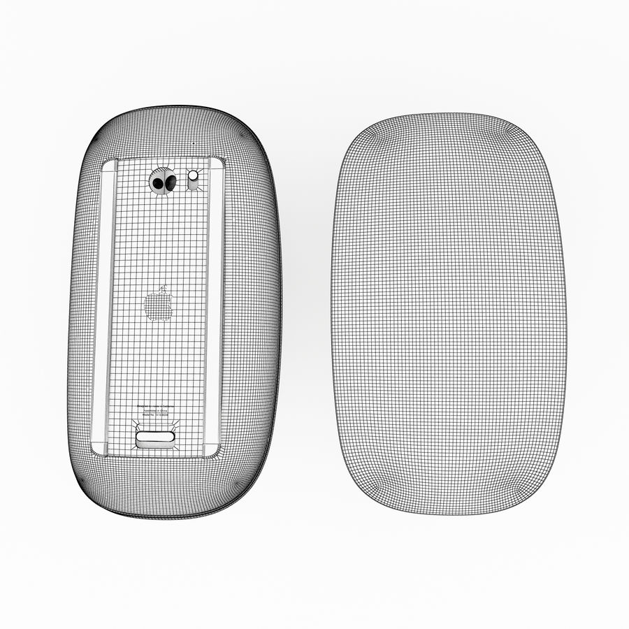 Apple Magic Mouse royalty-free 3d model - Preview no. 7
