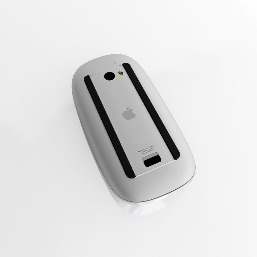 Apple Magic Mouse royalty-free 3d model - Preview no. 3