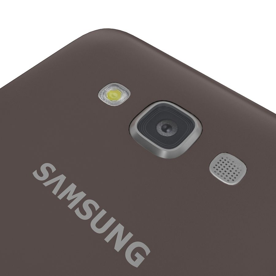 Samsung Galaxy E7 Brown royalty-free 3d model - Preview no. 17