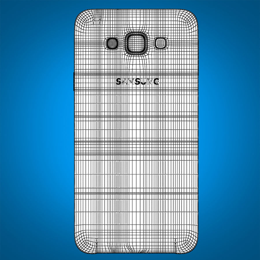 Samsung Galaxy E7 Brown royalty-free 3d model - Preview no. 21