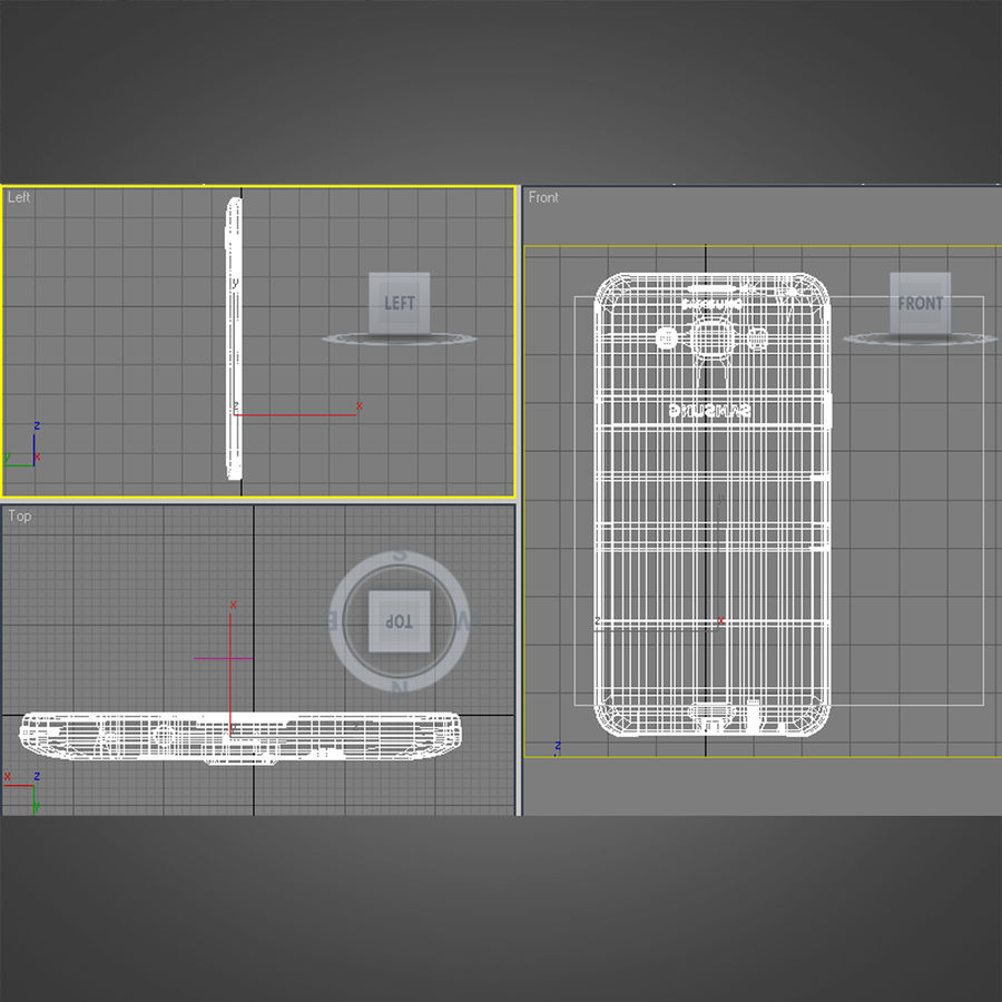 Samsung Galaxy E7 Brown royalty-free 3d model - Preview no. 30